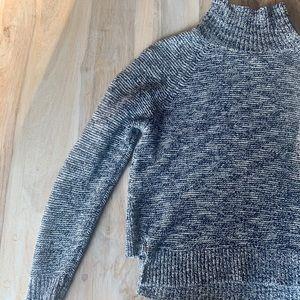 Madewell Raglan Navy Heathered Turtleneck Sweater
